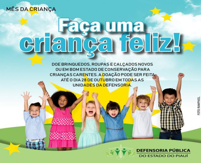 Campanha arrecada doações para crianças carentes em Teresina