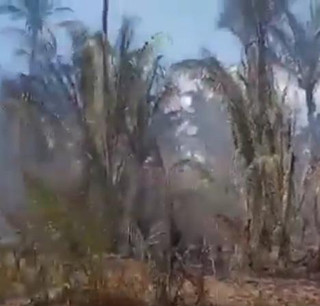 Vídeo mostra incêndio atingindo município piauiense