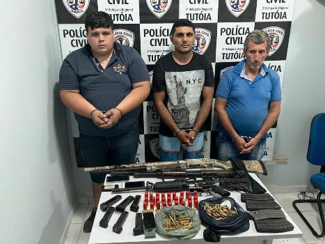 GPE-18/Timon em Operação Conjunta prende 3 assaltantes de banco