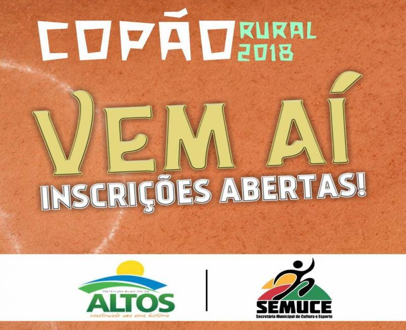 Copão Rural de Altos terá premiação de R$ 15 mil; inscrições estão abertas