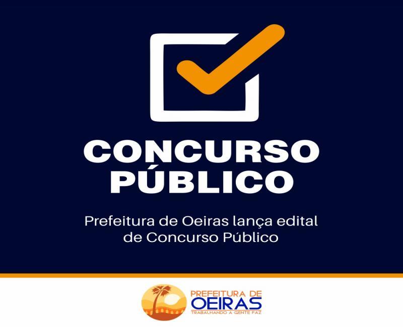 Prefeitura de Oeiras abre concurso para preenchimento de 93 vagas