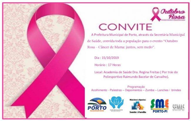 Porto | Saúde realizará evento do Outubro Rosa academia  Drª Regina Freitas