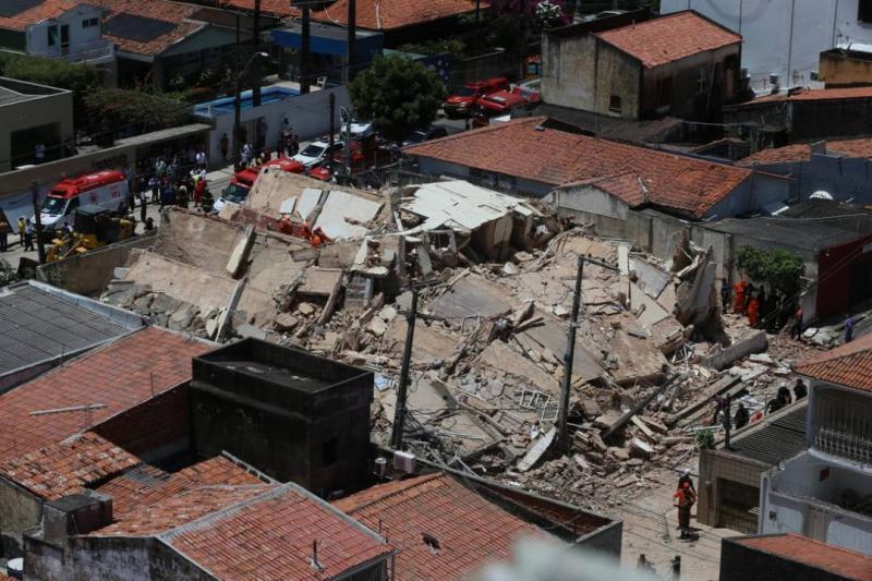 Queda de prédio em Fortaleza: Uma morte é confirmada