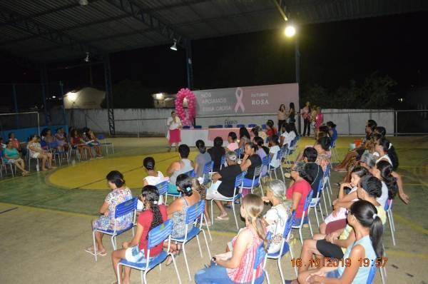 Roda de conversa da campanha outubro rosa em Colônia do Gurgueia