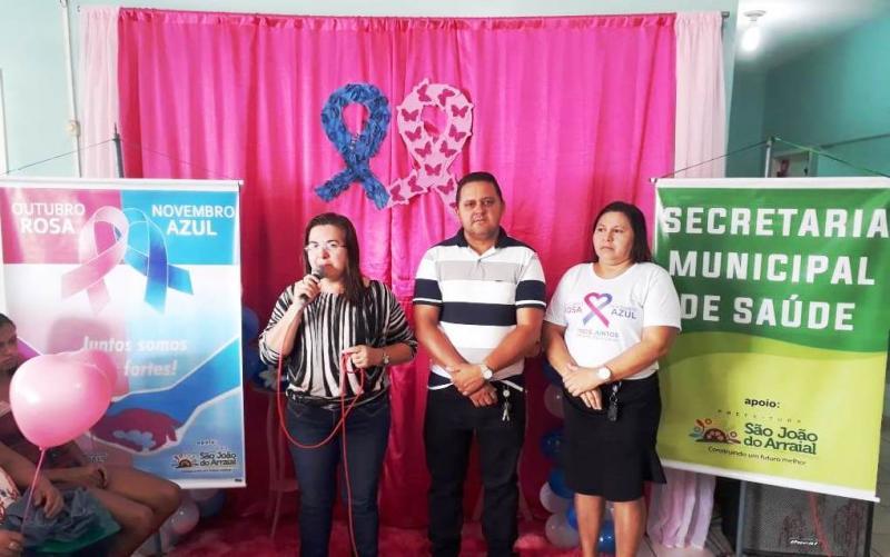 Prefeitura realiza lançamento da campanha outubro rosa na sede do município