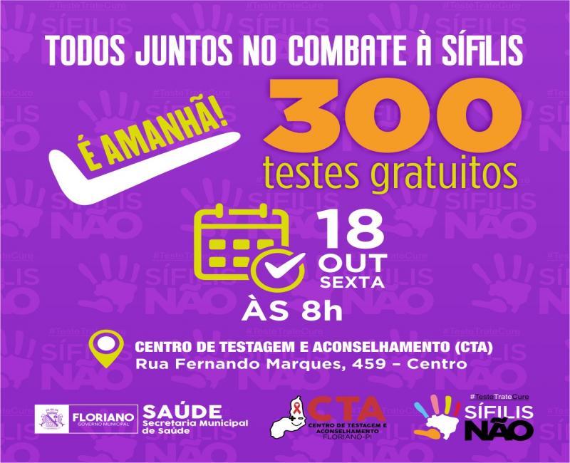 CTA promove amanhã (18) ação de combate à sífilis