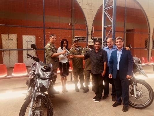 Companhia de Polícia de Colônia do Gurgueia e região ganha duas motocicleta