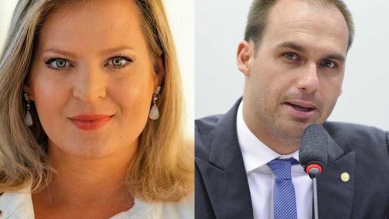 Joice Hasselmann e Eduardo Bolsonaro discutem nas redes sociais