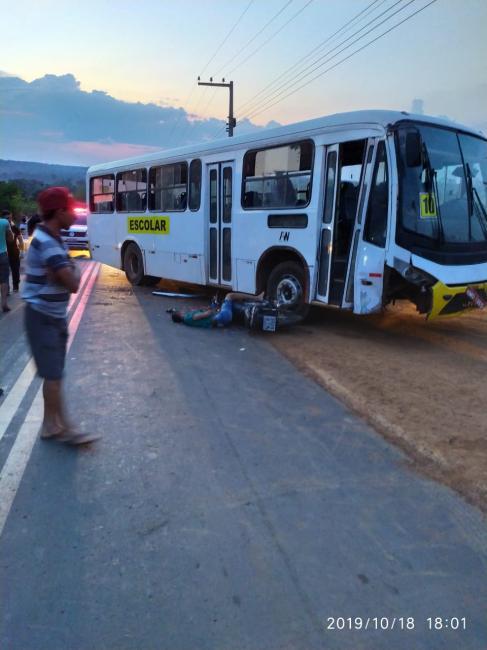Grave acidente deixa vitima no município de Mirador-Ma