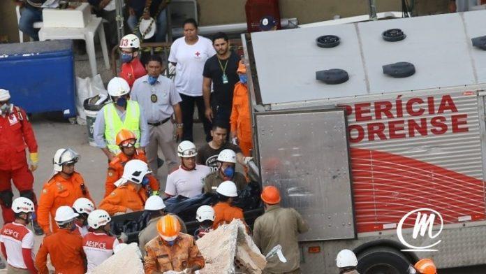 Corpo da sétima vítima do desabamento é retirado dos escombros