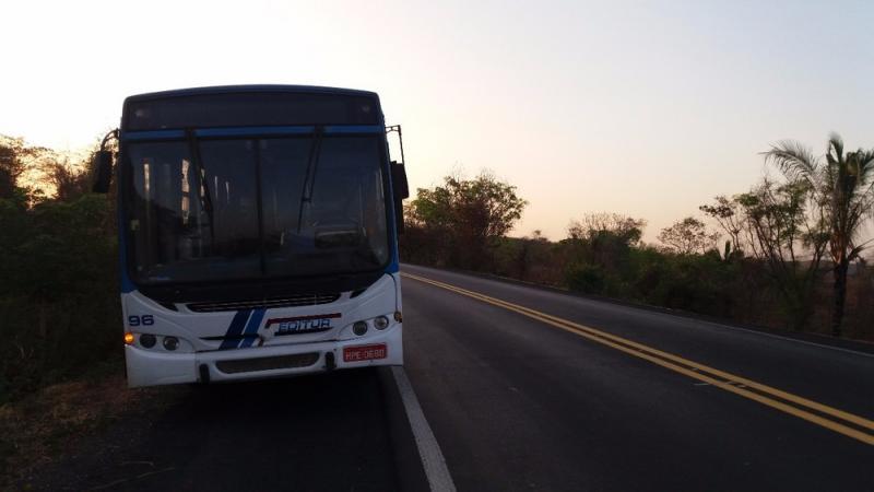 Criminosos invadem ônibus, atiram e roubam passageiros na BR-316