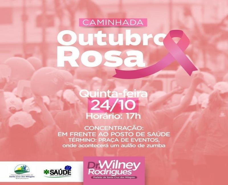 Santa Cruz | Gestão convida população para caminhada Outubro Rosa