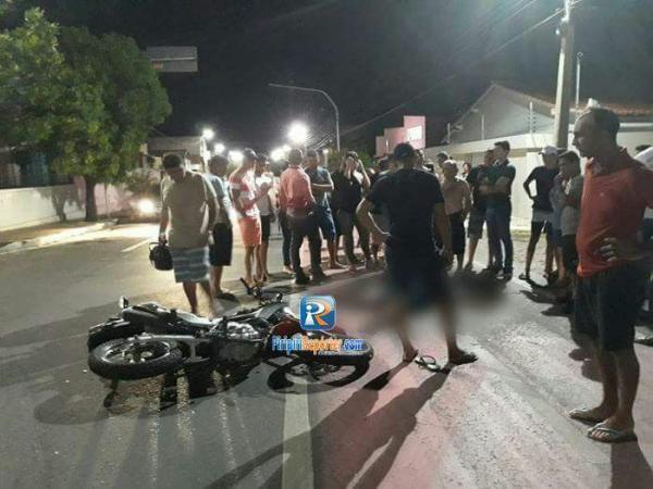 Carro atropela e mata motociclista em Piripiri