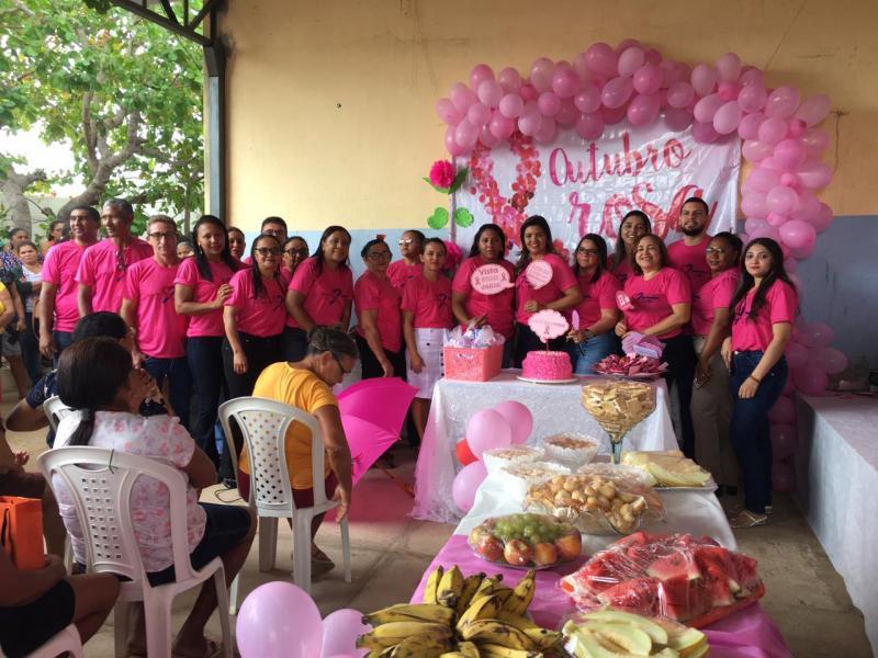 Saúde de Barra D'Alcântara  evento alusivo ao Outubro Rosa