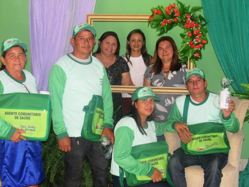 Secretaria de saúde de São João do Arraial realizou homenagens aos ACS