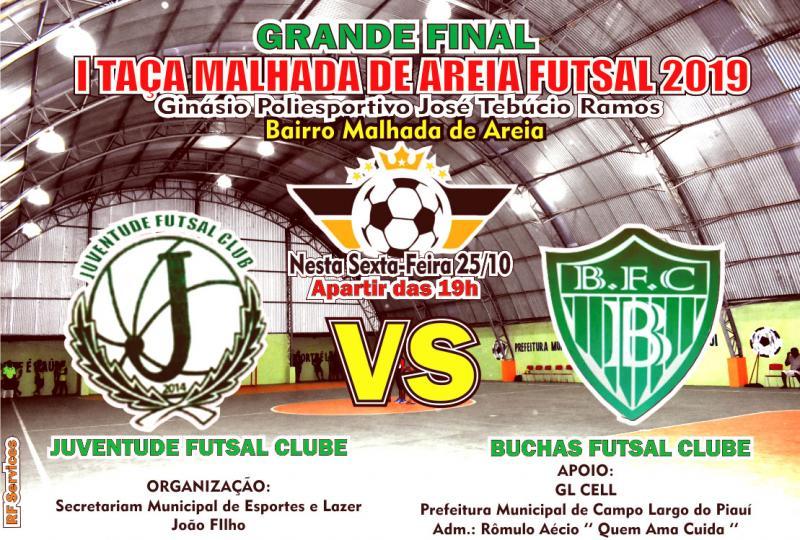 Buchas e Juventude disputarão grande Final I Taça Malhada de Areia Futsal