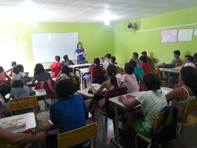 Alunos de Aroeiras do Itaim participam de aulão para avaliação Saeb 2019