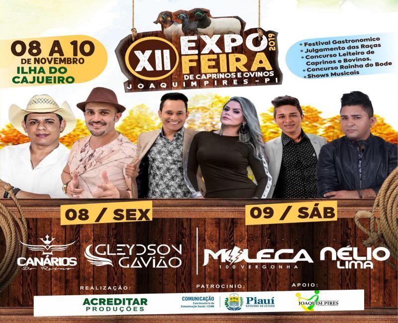 Joaquim Pires | Confirmada programação da XII Expofeira do município