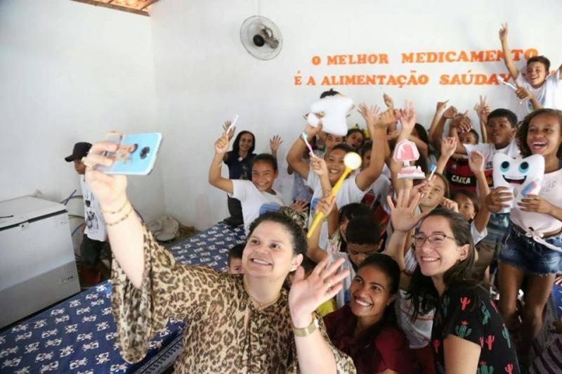Altos | Crianças assistida pelo SCFV recebe palestra sobre saúde bucal