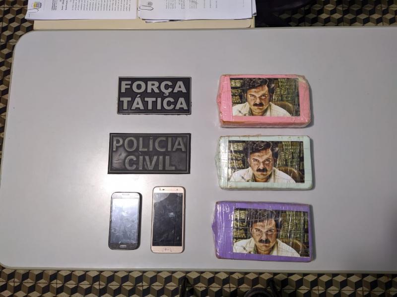 Polícia encontra cocaína embalada com foto de narcotraficante no PI