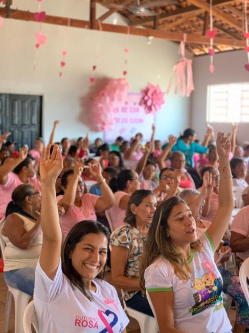 Lagoa do PI realiza manhã de ações encerrando Outubro Rosa