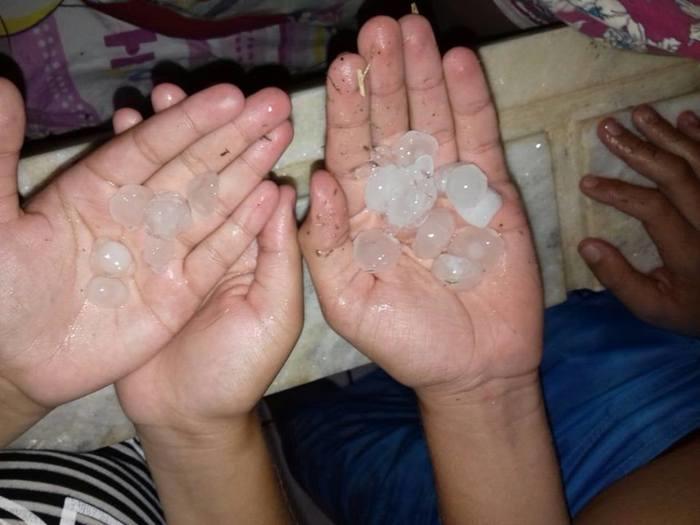 Chuva de granizo é registrada em municípios do Piauí