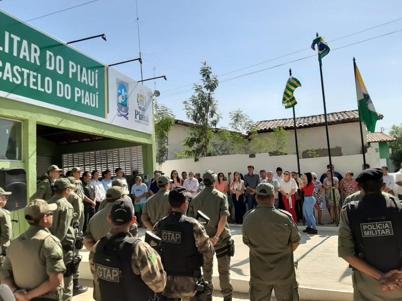 Inaugurada a sede da 4ª Companhia da Polícia Militar em Castelo do Piauí