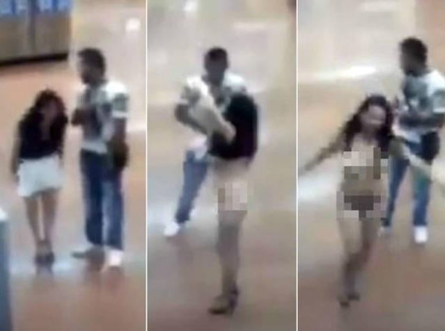 Mulher tira a roupa para provar que não roubou nada em supermercado