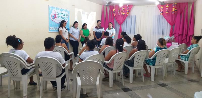 Secretária de Saúde de Lagoinha realiza evento em alusão à semana do bebê