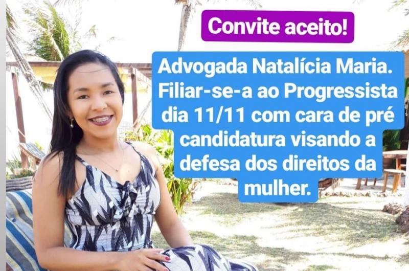Capitão de Campos: Natalícia Maria filia-se ao Mulheres Progressistas