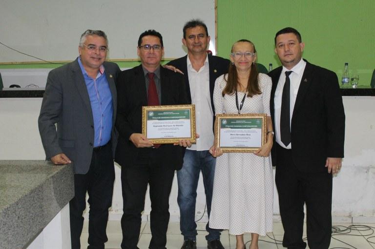 Câmara homenageia dois professores com o título de cidadania campomaiorense
