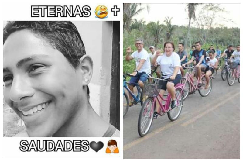 Ciclistas homenageiam o jovem Luciano Santos vítima de acidente de trânsito