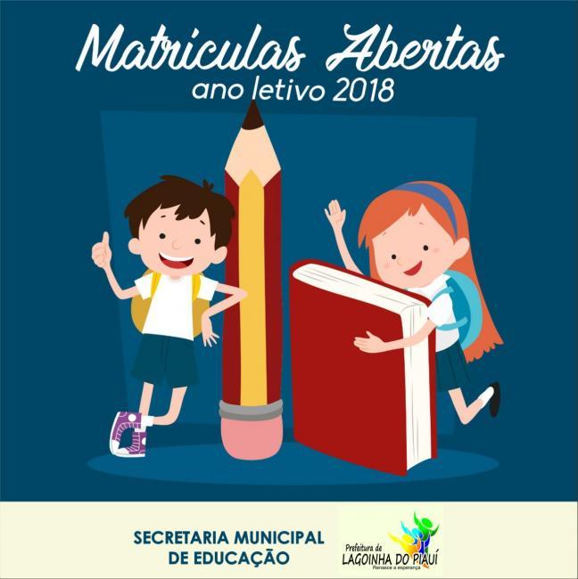 Secretaria Municipal de Educação de Lagoinha do Piaui  inicia matrículas para 2018