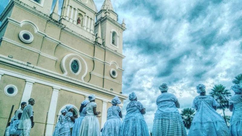 Umbandistas vão lavar a escadaria da Igreja São Benedito