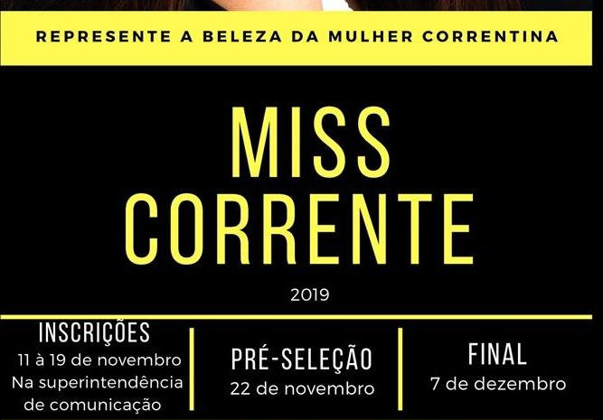 Inscrições para o Miss Corrente estão abertas
