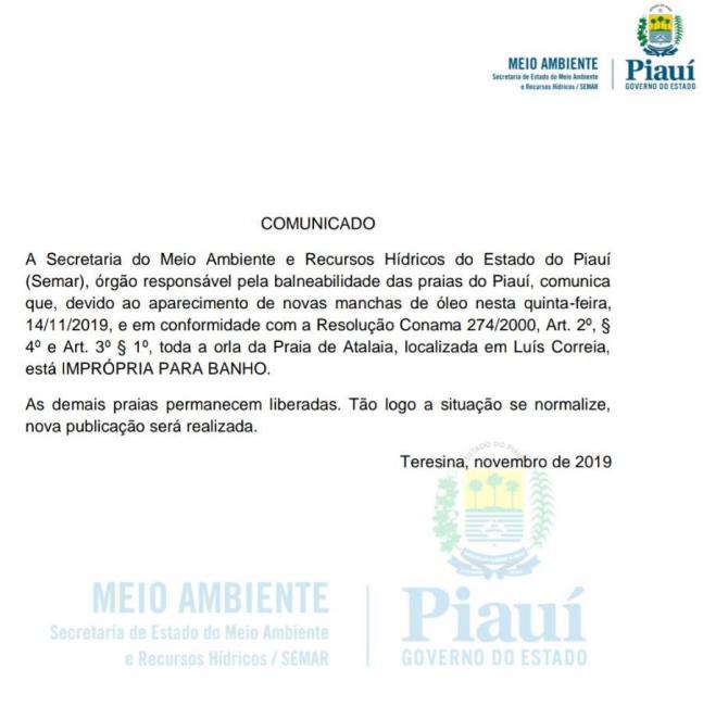 Praia de Atalaia é interditada após aparecimento de manchas de óleo