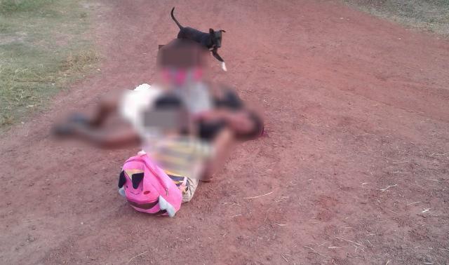 Mulher fica ferida após receber facadas na frente dos filhos