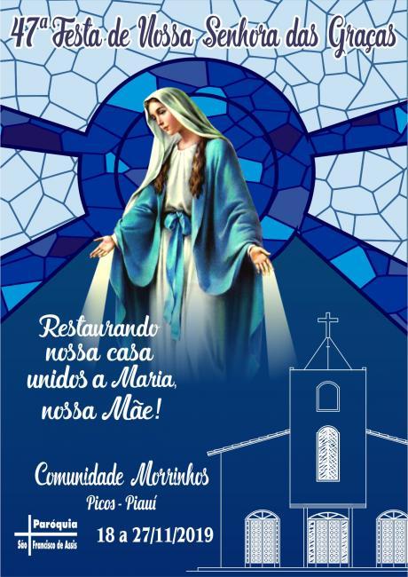 Começa a 47ª Festa de Nossa Senhora das Graças na comunidade dos Morrinhos