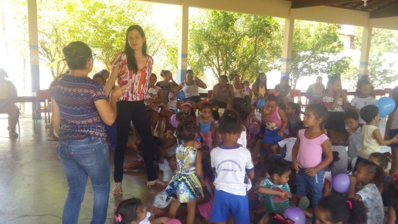 Escola Municipal Creche Cibelle Pontes, incentiva alimentação saudável