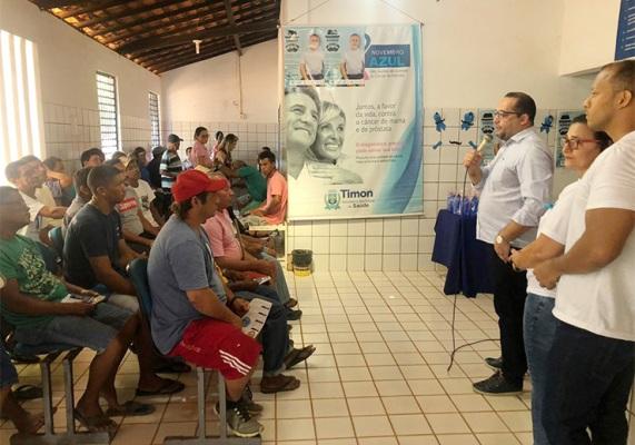 Prefeitura de Timon incentiva homens a cuidarem da saúde