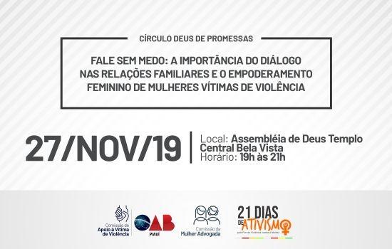 OAB Piauí realizará ação pelo fim da violência contra a mulher