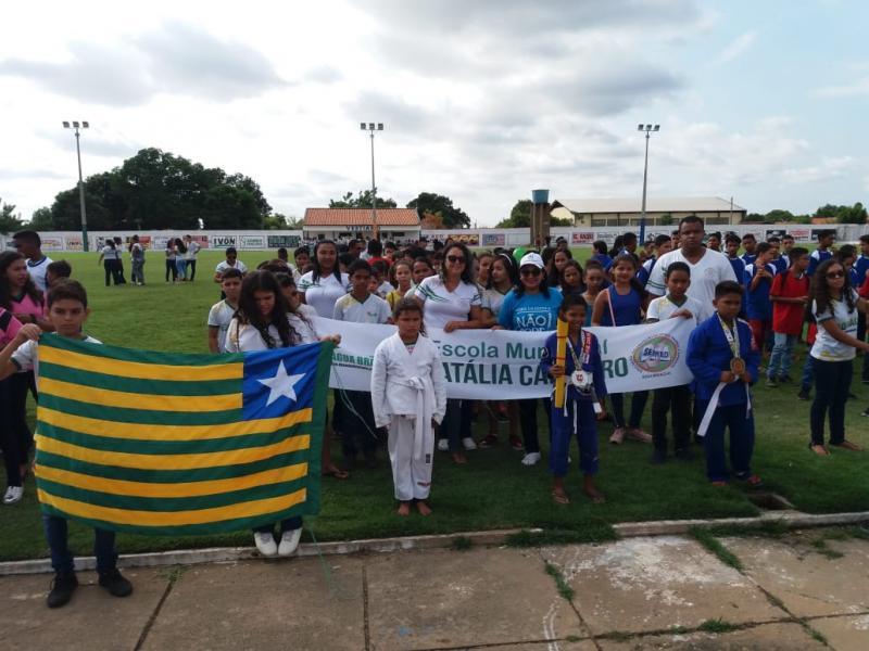 Prefeitura de Água Branca realiza abertura dos Jogos Estudantis 2019