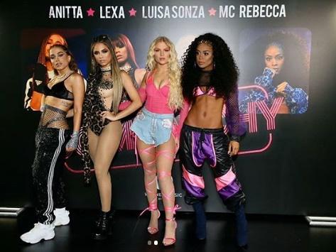 Anitta reúne Lexa, Luísa Sonza e Mc Rebecca para a parceria 'Combatchy'