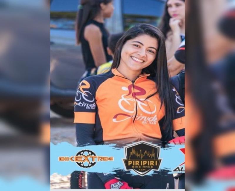 Brasileirense Ilka Damasceno foi eleita musa da Copa PI Norte de Ciclismo