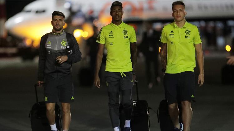 Flamengo chega a Lima para decisão da Libertadores