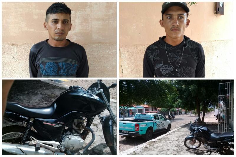 Polícia de São João do Arraial recupera moto roubada e prende suspeitos