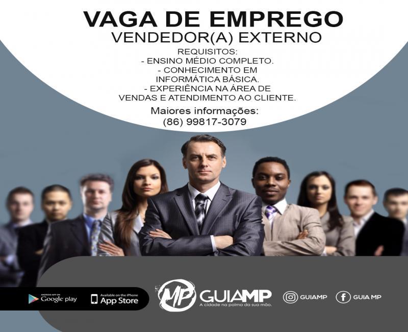 Vaga de Emprego abertas para vendedores(a) externo para a empresa Guia MP
