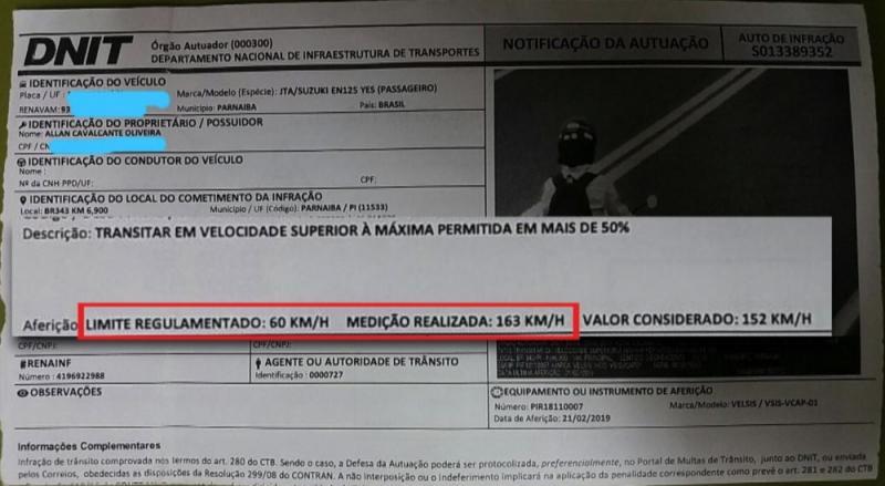 Dnit vai cancelar multas irregulares por erros de radar na BR 316 em Picos