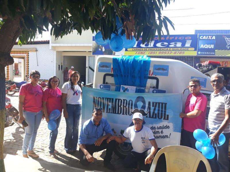 Saúde de Barra D'Alcântara realiza Blitz Azul na feira municipal
