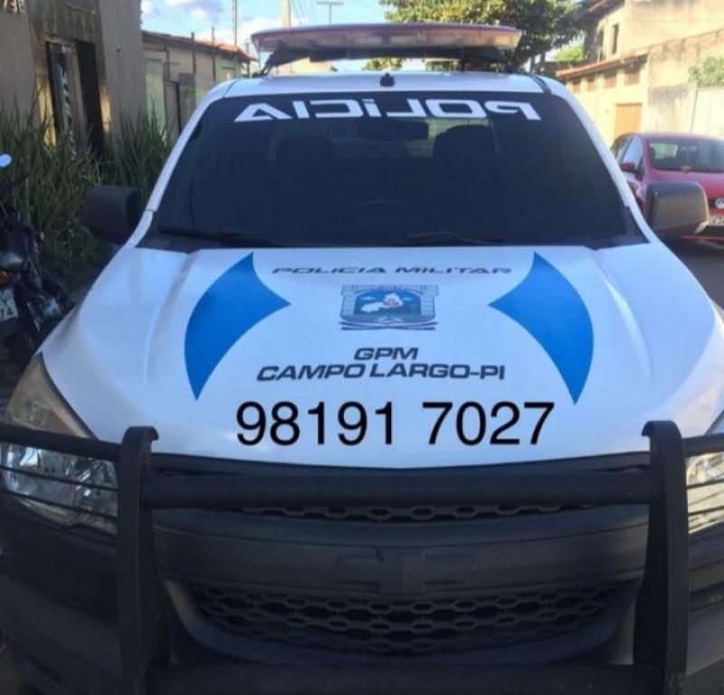 Viatura do GPM de Campo Largo do Piauí-PI (Foto: Reprodução/WEB)